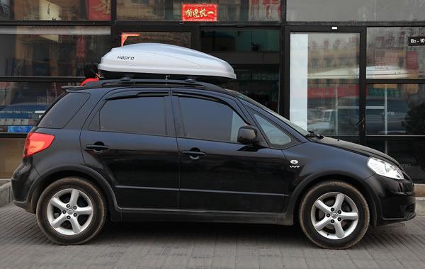 天语sx4安装车顶架和哈勃传奇3.0车顶行李箱